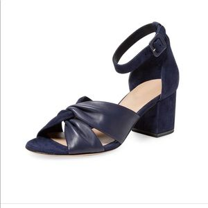 DVF blue Pasadena leather sandals 7.5 BS3